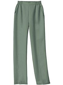 Microfiber Elastic-Waist Pants