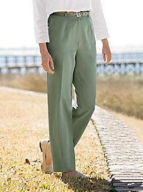 Microfiber Fly-Front Pants