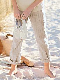 Seersucker Pull-On Pants
