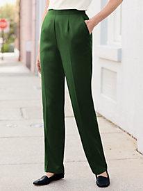 Herringbone Flat-Front Pant