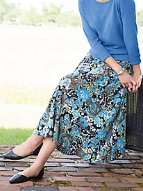 Mixed-Print Reversible Skirt