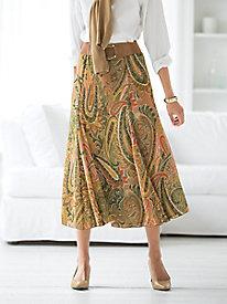 Flared Print Skirt