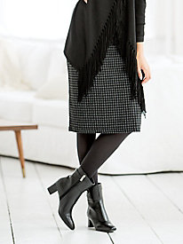 Houndstooth Ponte Slim Skirt