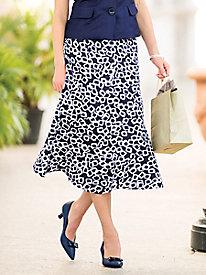 Seamed Linen Skirt