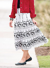 Shadow Trellis Tiered Skirt
