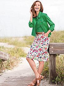 Dennisport Print Skirt...