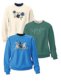 Morning Sun Embroidered Sweatshirts