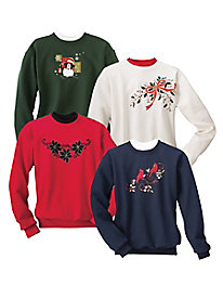 Festive Embroidered Sweatshirts