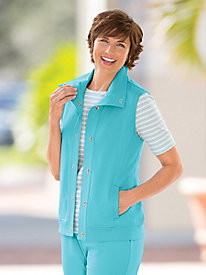 Koret French Terry Snap-Front Vest