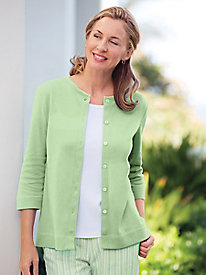 Interlock Knit Cardigan