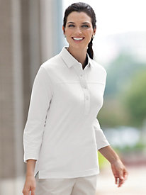 3/4 Sleeve Polo by Leon Levin�