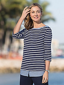 Stripes & Chambray Topper