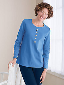 Artful Buttons Knit Tunic