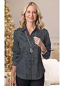 Polka Dot Shirt by Foxcroft