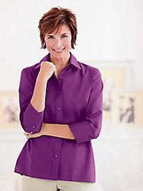 Wrinkle-Free 3/4 Sleeve Shirt by Foxcroft
