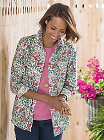 Floral Long-Sleeve Shirt by Foxcroft