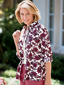 Perfectly Paisley Roll-Tab Tunic