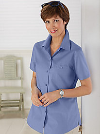 Wrinkle-Free Short-Sleeve Shirt by Foxcroft