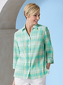 Perfect Plaid Crinkle Shirt