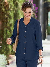 Sienna Mandarin Collar Shirt