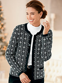 Diamond Jacquard Cardigan