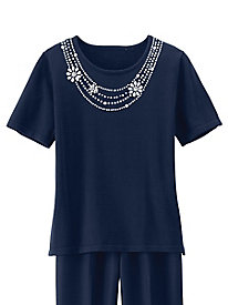 Necklace Sweater by Alfred Dunner