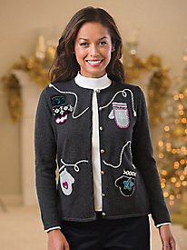 Holiday Mittens Cardigan