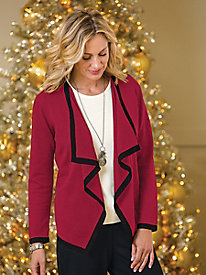 Tipped Waterfall Open Cardigan