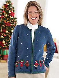 Christmas Carolers Cardigan
