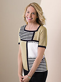 Alfred Dunner� Colorblock Stripe Sweater