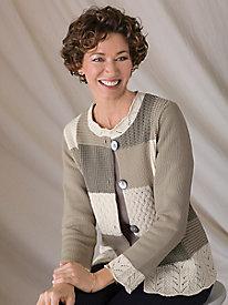 Mixed-Texture Cardigan