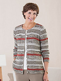 Textured Stripe Cardigan...