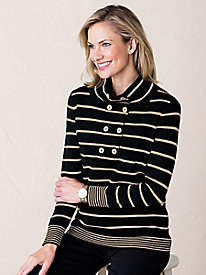 Striped Mockneck Sweater