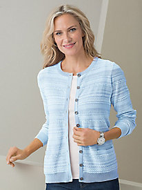 Textured Stripe Cardigan