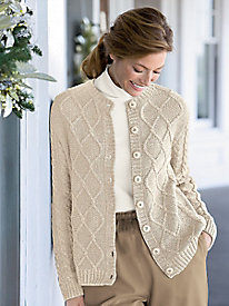 Marled Textured Cardigan