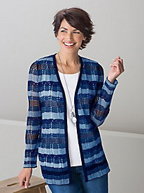 Denim Blues Open Cardigan