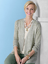 Marled Open Cardigan by Koret®