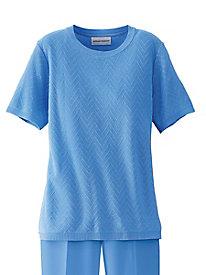 Alfred Dunner® Chevron Textured Sweater