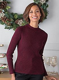 Marled Rib Mockneck Sweater...
