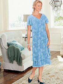 Madeline Print Dress $34.97 AT vintagedancer.com