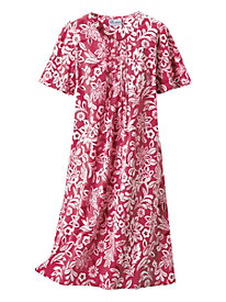 Batik Print Cotton Crinkle Dress