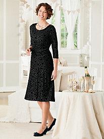 Velvet Dot 2-Piece Knit Dress