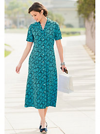 Sienna Leaf-Print Dress