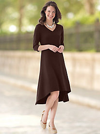 Seamed Knit Dress