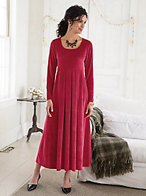 Knit Velvet Dress