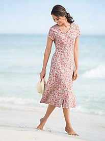 Beach Roses Knit Dress