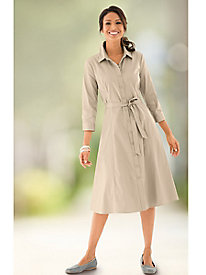 Stretch Twill Shirtdress