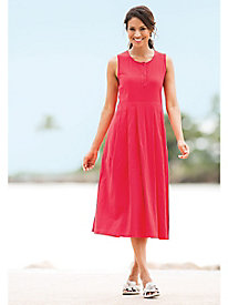Captiva Sleeveless Henley Dress