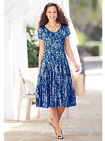 Floral Impressions Knit Dress