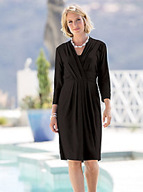 Slimmer-in-Seconds Pleat-Front Dress